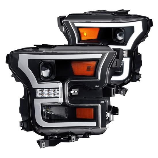 2015 Ford F150 Black Housing Headlights