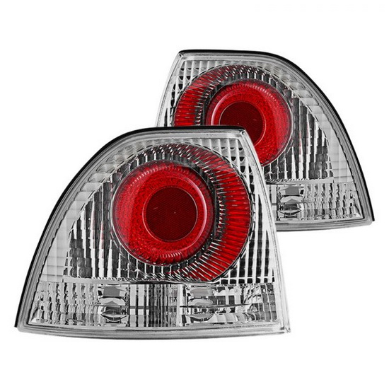 94-95 Honda Accord Chrome Housing Aftermarket Altezza Taillights