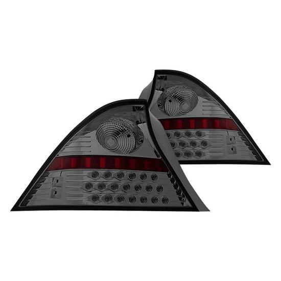 01-03 Honda CIVIC 2DR Chrome Smoke Housing Aftermarket LED Taillights