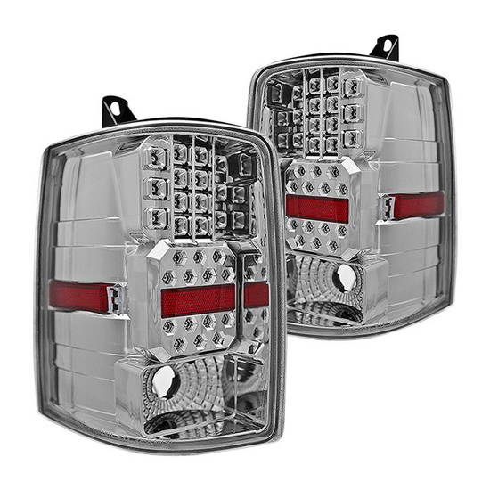 97-98 Jeep GRAND CHEROKEE Chrome Housing Aftermarket LED Taillights