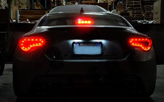 13-15 Scion FRS Black Clear Housing Aftermarket LED Taillights