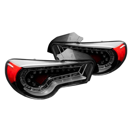 13-15 Scion FR-S Glossy Black Clear Housing Aftermarket LED Taillights