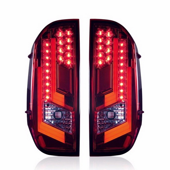 2014 Toyota TUNDRA Chrome Red Housing Aftermarket LED Taillights