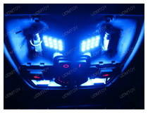 Blue LED Interior Panel Lights on Audi A4