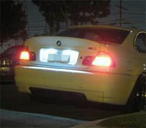 BMW LED License Plate Lights Showcase
