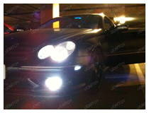 Mercedes CLK with LED side markers