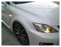 Lexus LED turn signal lights