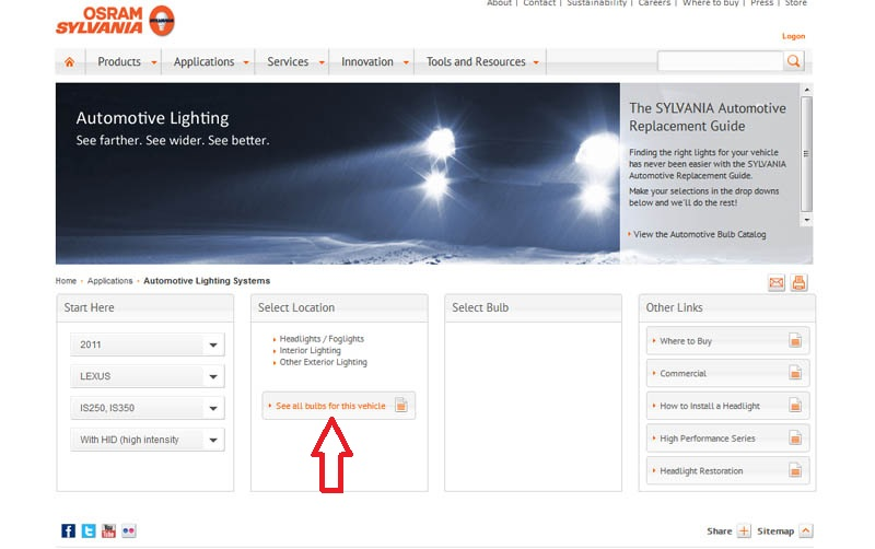 How To Search The Car Bulb Size And Shop Led Lights On Ijdmtoy