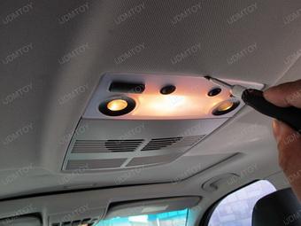 Bmw e60 5 series install led panel lights for interior dome lights for Led glow interior lights installation