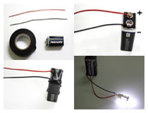 Make your own LED tester using a 9V battery