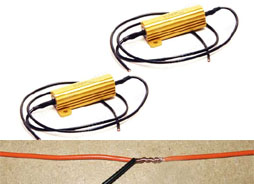Add Load Resistors to prevent LED corner light bulbs from rapid blinking (without T-Tap)