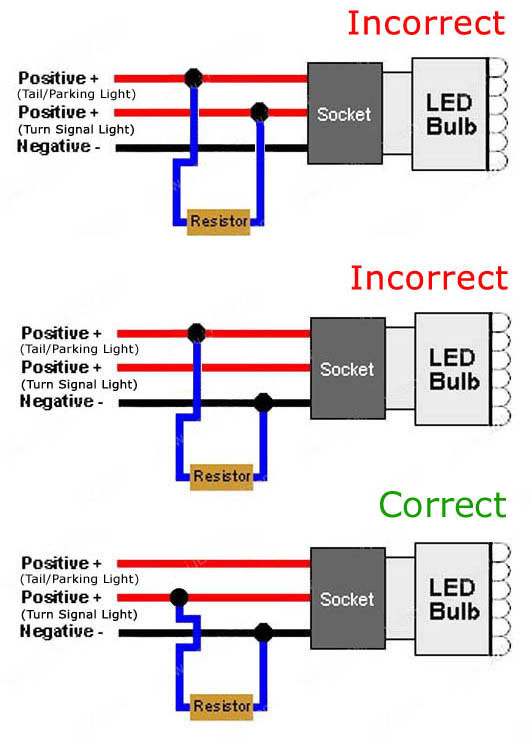 resistor 01 50w 6ohm led load resistors led turn signal lights hyper flash fix Basic Electrical Wiring Diagrams at soozxer.org