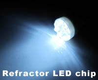 Refractor LED bulbs
