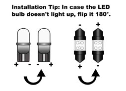 LED Light Bulbs Installation Tip in case the LED bulb doesn't light up