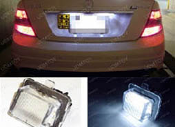 Installation DIY Guide Canbus OBC Error Free LED License Plate Light Lamp Modules for Mercedes W204 C Class, W212 E Class, W221 S Class