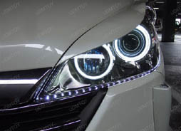 Installation DIY Guide for Audi A5 Q7 R8 Style Side-Shine LED Strip Lights for headlight lamps (Scenario I)