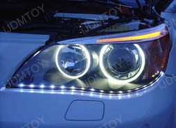 Installation DIY Guide for Audi A5 Q7 R8 Style Side-Shine LED Strip Lights for headlight lamps (Scenario II)