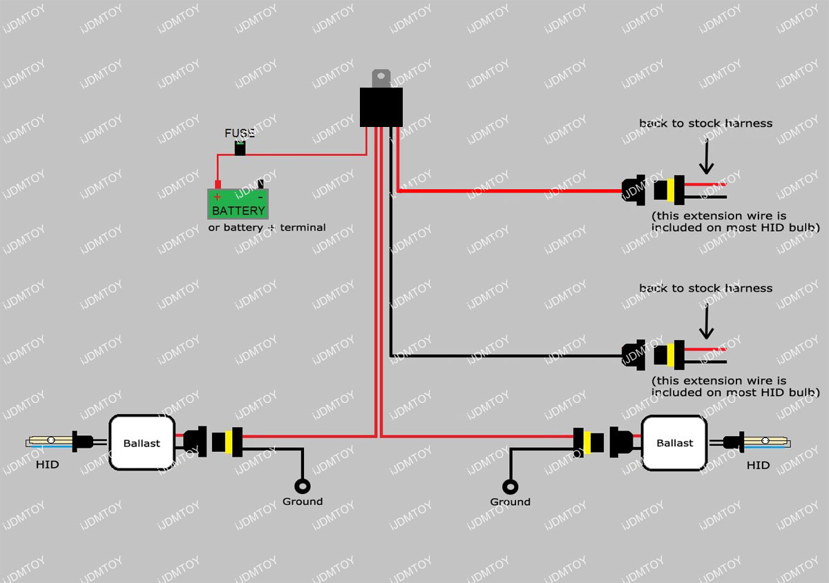 hid fog lights relay wiring diagram  hid  free engine