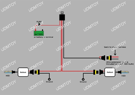 xenon bulbs 9007 hid wiring diagram  xenon  free engine