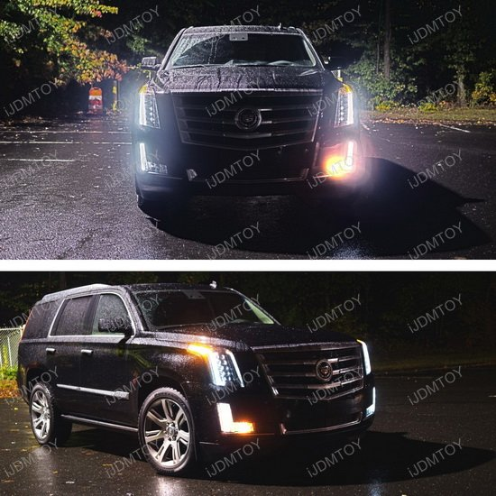 Cadillac Escalade LED Front Turn Signal & LED License Plate Lamps