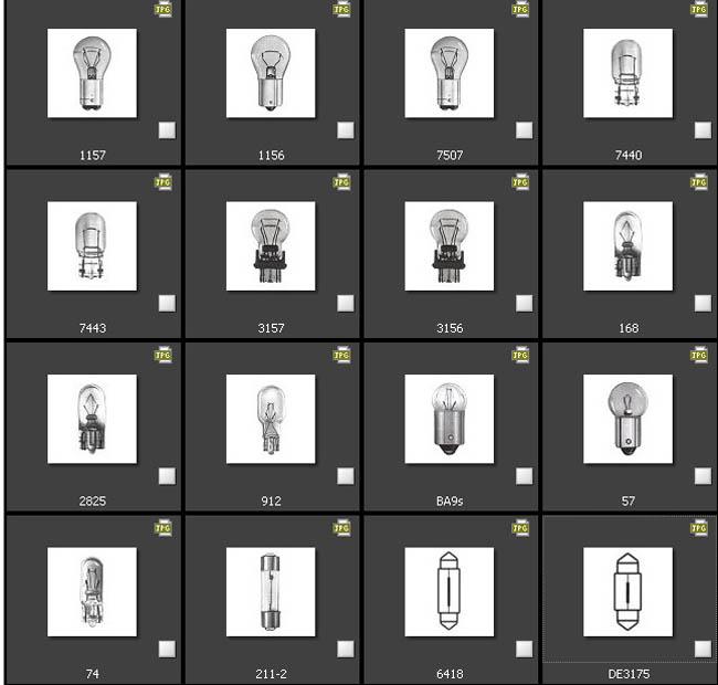 car interior bulb sizes. Black Bedroom Furniture Sets. Home Design Ideas
