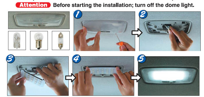 How To Install The Led Panel Light For Car Interior